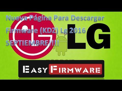Nueva Pagina Para Descargar Firmware Lg!!! (Kdz) 2017 Septiembre