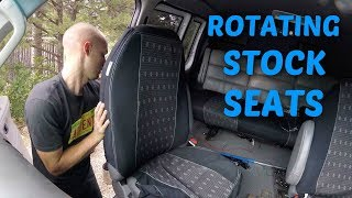 Installing rotating seats in a 2006 Ford Econoline E150 E250 E350 Van