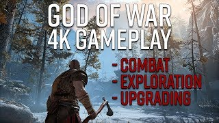 God of War 4K Gameplay - Combat, Exploration, and Upgrading