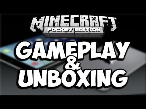 Minecraft Pocket Edition   iPad Mini 2   Unboxing & Gameplay  