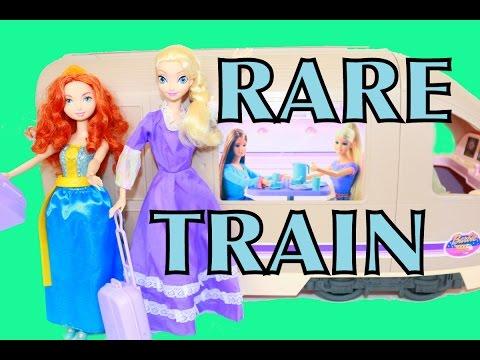 Alltoycollector Barbie Travel Train Frozen Elsa Brave Princess Merida Rare Barbie Motorhome Rv Toy video