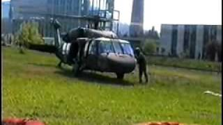 "Парение ""Черного ястреба""( наши десантура на UH-60 Black Hawk)"