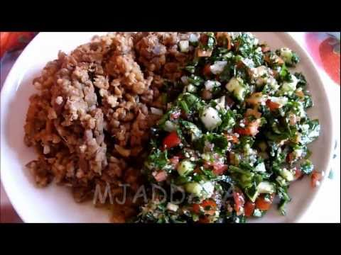 Maha's Arabic Dishes- Mjaddara recipe