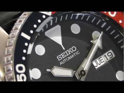 2S Time - SEIKO Diver SKX009K1 Blue Dial Automatic Mens Watch Rubber Strap
