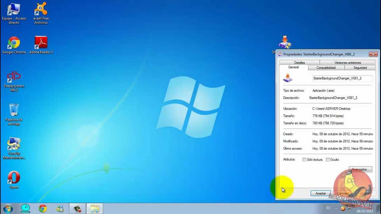 Cambiar Fondo de Pantalla Windows 7 Starter - YouTube