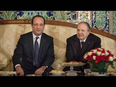 ALGÉRIE - Visite éclair de François Hollande à Alger et rencontre avec Abdellaziz Bouteflika