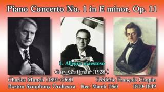 Chopin: Piano Concerto No. 1, Graffman & Munch (1960) ショパン ピアノ協奏曲第1番 グラフマン