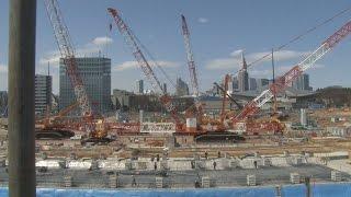 新国立競技場の工事現場を公開