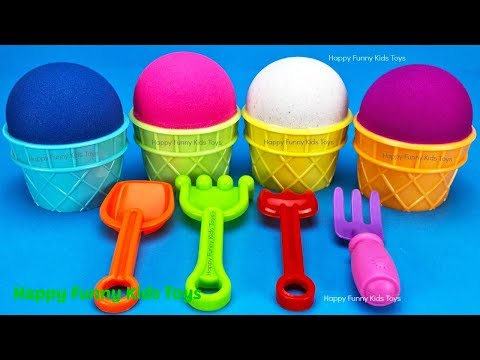Kinetic Sand Ice Cream Cups Surprise Toys Kinder Eggs Yowie Chupa Chups TMNT, Elephant & Fish Molds