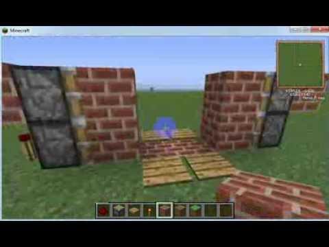 Как сделать раздвижную дверь в майнкрафт 152