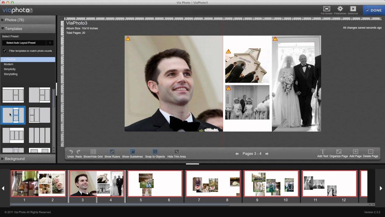 Wedding Collage Album Wedding Album Design Using