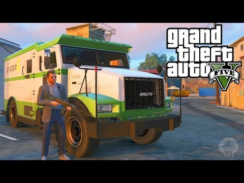 GTA 5: How To Make Huge Amounts Of Money Robbing Security Trucks + All Locations(Grand Theft Auto V)