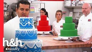 Buddy ensina como confeitar um bolo   Batalha dos confeiteiros   Discovery H&H Brasil