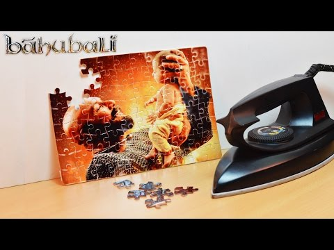 How to Print Bahubali 2 Photo on Puzzle at Home - Using Electric Iron