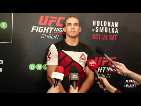 Tom Breese UFC Fight Night Dublin Post Fight Media Scrum