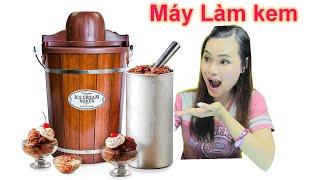 Làm Kem Sô cô La Với Máy Ice Cream Maker Mỹ Đón Quốc Khánh Mỹ - Xem Pháo Hoa