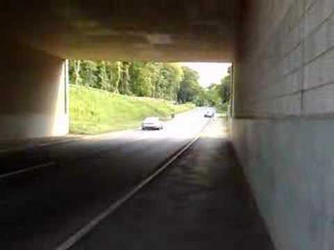 2008 Jaguar xkr thrashed in a tunnel