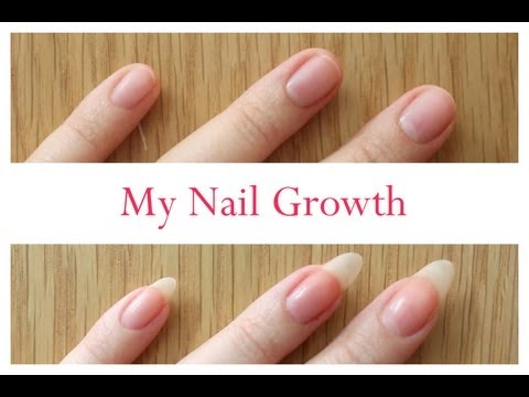 Nail Growth And Cutting My Stiletto Nails Time Lapse