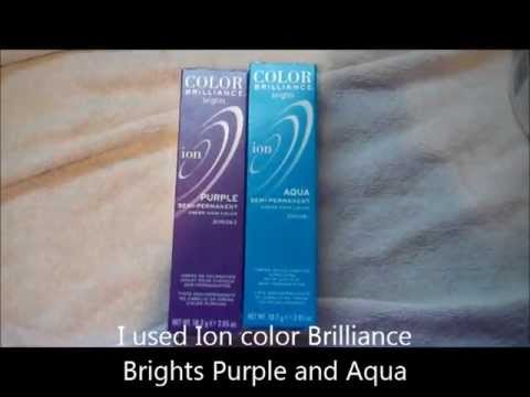 Bleaching and Dying your hair Blue and Purple Using Ion Color Brilliance Brights