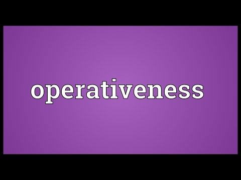 Header of operativeness