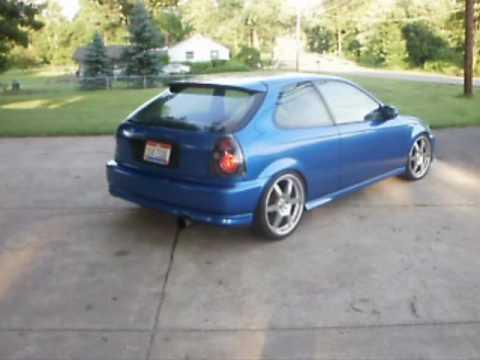 Honda Civic Coupe For Sale >> CUSTOMIZED 1998 HONDA CIVIC HATCHBACK - YouTube