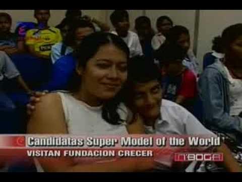 Candidatas Super Model of the Word visitan Fundación Crecer