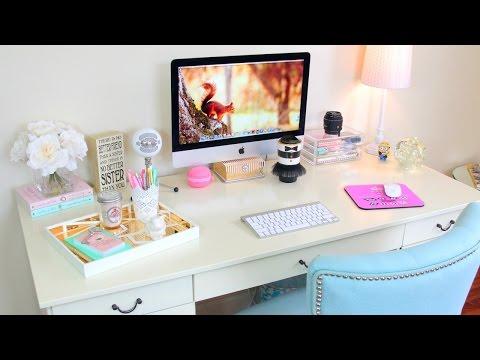Desk Tour - Office Tour + Desk Organization Ideas