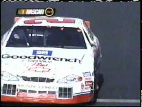 2001 NASCAR Old Dominion 500 - Kevin Harvick punts Bobby Hamilton out of the lead Video