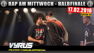 RAP AM MITTWOCH HAMBURG: 17.02.16 BattleMania Halbfinale feat. VYRUS, TISOS uvm. (3/4) GERMAN BATTLE