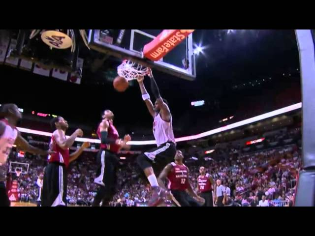 Chris Bosh Throws Down the Monster Two Hand Slam