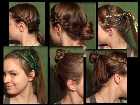6 Cute Workout Hairstyles - YouTube