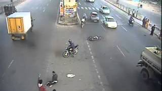 Live Accident Lucky Man