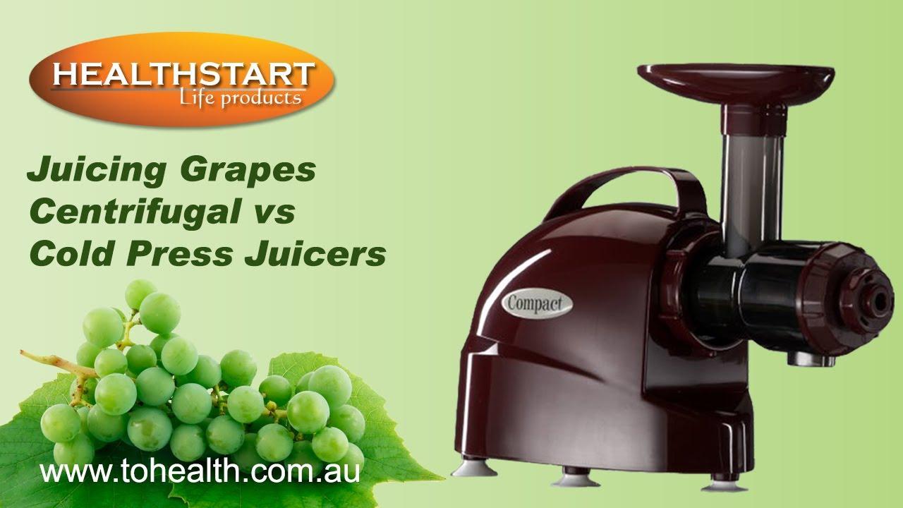 Cold Press Juicer Vs Fast Juicer : Healthstart Grapes Centrifugal vS Cold Press Juicers - YouTube