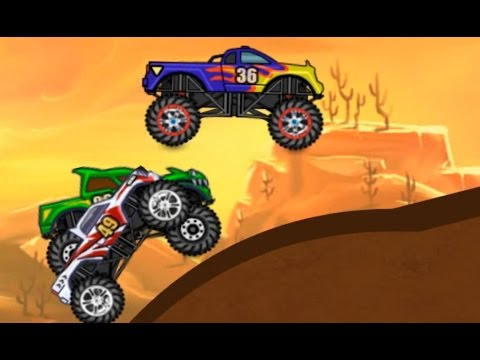 Monster Hill Ride |  Vehicle Monster Truck game for kids