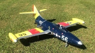 RC F9F-2 Panther Jet Maiden And BIG Crash