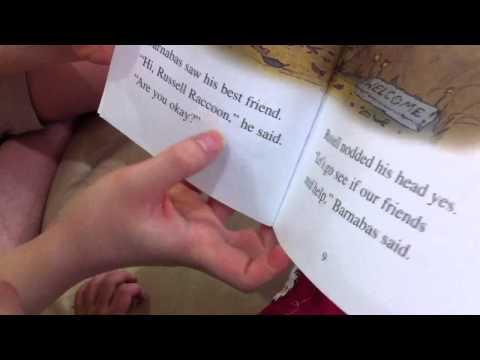 Naia 3 yrs reads storybook