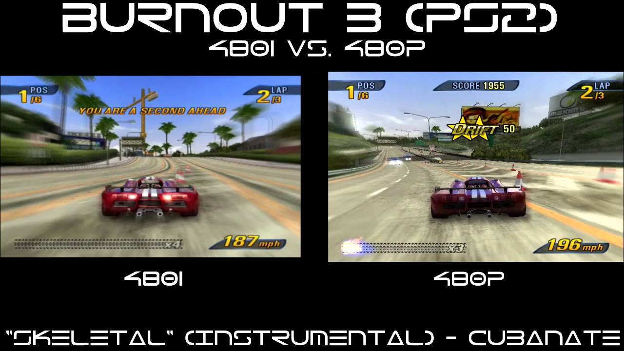 Burnout 3: Takedown (PS2) - 480i vs 480p - YouTube