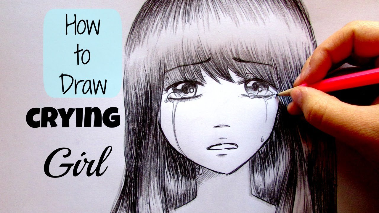 how to draw tears on face