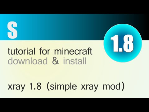 XRAY MOD 1.8 minecraft - how to download and install xray mod 1.8 [simple xray]