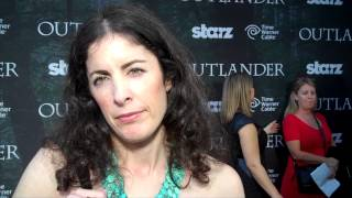 Outlander TV News' Tartan Carpet Interview with Co-Executive Producer Maril Davis