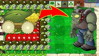 99 Gatling Pea Cob Cannon vs 999 Gargantuar - Plants vs Zombie