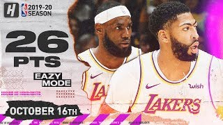 LeBron James & Anthony Davis DESTROYS WARRIORS! SICK Highlights 2019.10.16 - 26 Pts, 19 Assists!