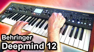 Behringer DEEPMIND 12 - Relaxing ambient chillout music 【SYNTH DEMO】