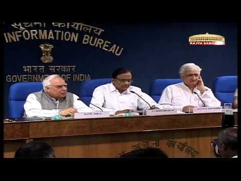 Joint Press Conference of Salman Khurshid, Kapil Sibal & P Chidambaram