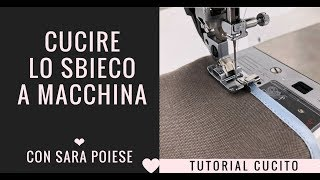 Cucire lo sbieco a macchina - How to sew bias