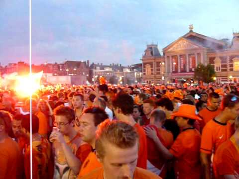 flag of spain 2010. FIFA 2010 World Cup Holland : Spain - Lights, Flags and Fireworks
