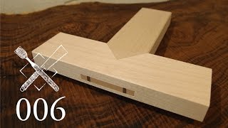 Joint Venture Ep. 6: Through tenon with sword tip miter (Chinese Joinery)