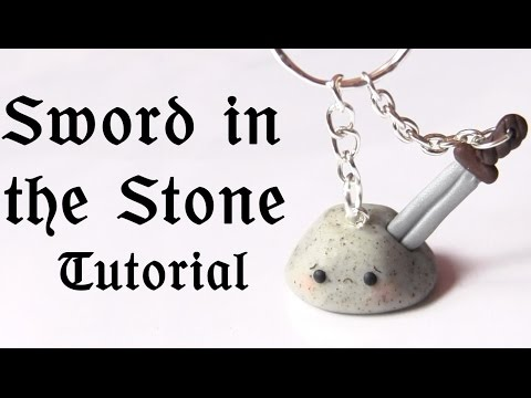 Sword in the Stone Polymer Clay ● Myths & Legends Collab w/LittleSurprisesYT