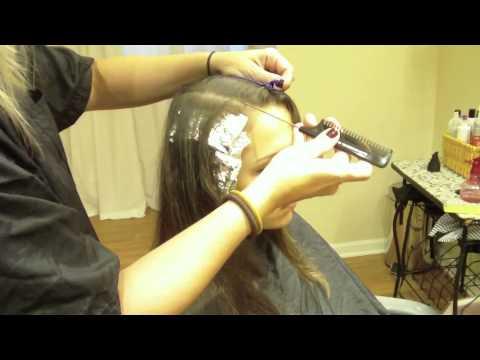... Color Partial Highlights on Medium Brown, Virgin Hair (Hair