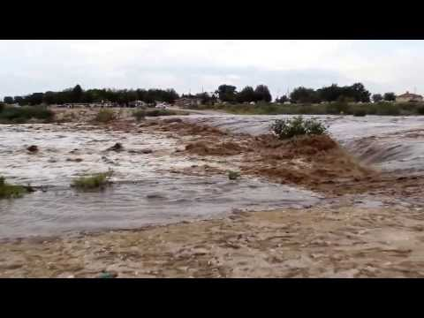 Flash Flooding On Dark Canyon  Carlsbad, NM 9 12 2013